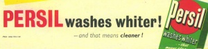 Persil washes whiter!
